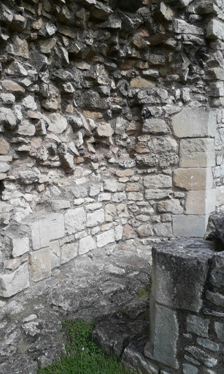 masonry cut to accomodate a door